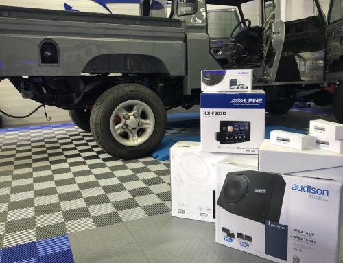 Audio upgrade Land Rover Defender